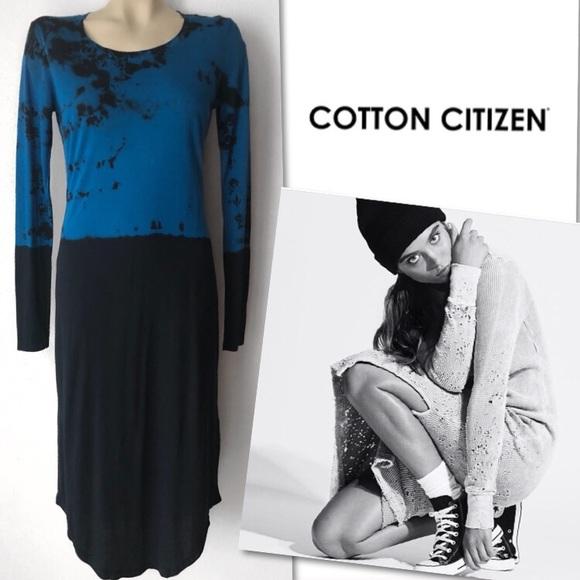 Cotton Citizen Dresses & Skirts - 🆕 COTTON CITIZEN TIE DYE BLUE BLACK DRESS SZ S